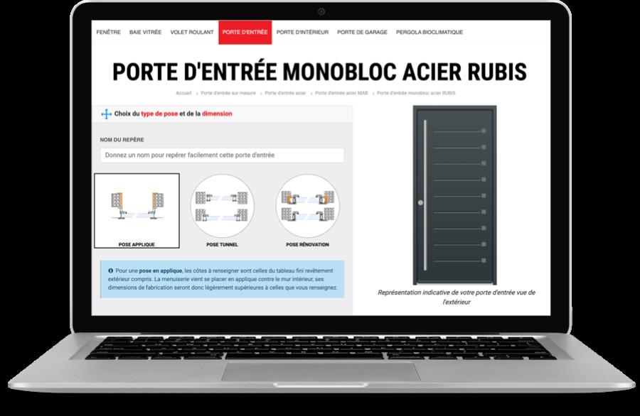 Porte d'intérieur personnalisable grâce au configurateur en ligne