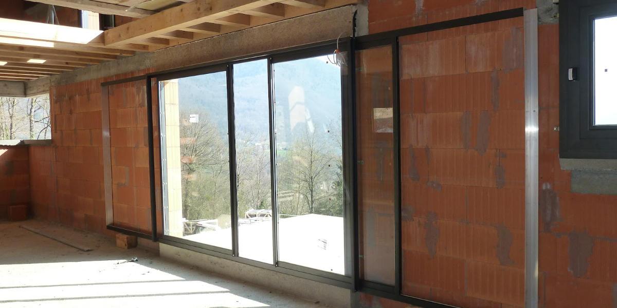 Isolation baie vitrée à galandage