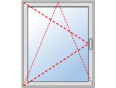 Fenêtre PVC 1 vantail oscillo battant sur mesure