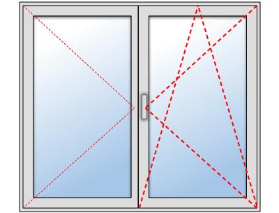 Fenêtre alu 2 vantaux oscillo battant sur mesure