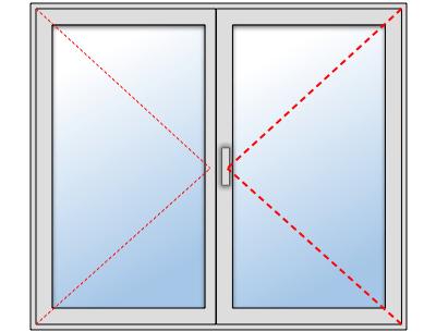 Fenêtre PVC 2 vantaux sur mesure