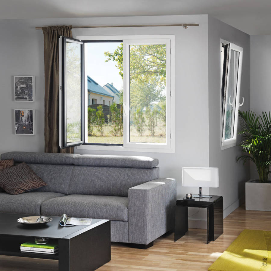 La fenêtre alu est disponible dans tout le nuancier RAL ainsi qu'en bicoloration
