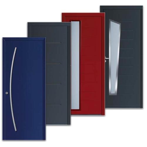 Les différents modèles de portes d'entrée acier