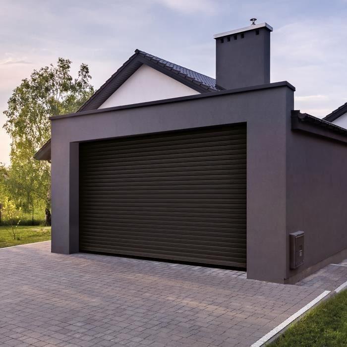 la porte de garage électrique à enroulement suit le même principe qu'un volet roulant