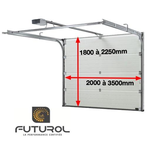 Porte de garage sectionnelle F100