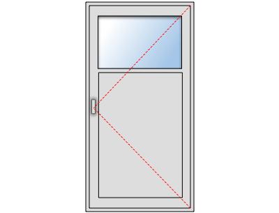 Porte de service PVC avec oculus sur mesure