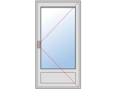 Porte Fenêtre alu 1 vantail sur mesure