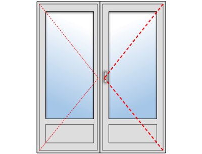 Porte Fenêtre PVC 2 vantaux sur mesure